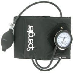 Spengler cuff-mounted sphygmomanometer