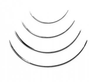 Une aiguille de suture de la marque Mopec Europe